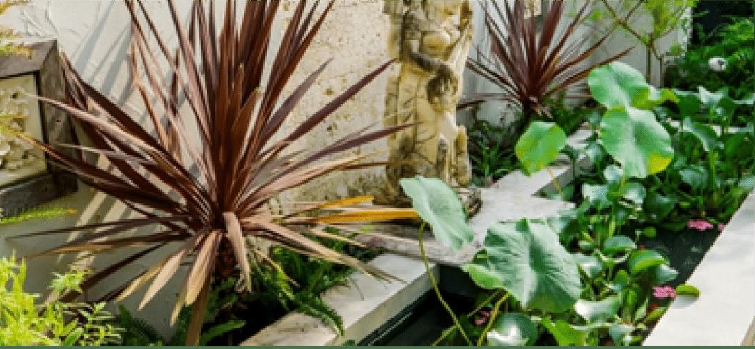 バリ風リゾートガーデン